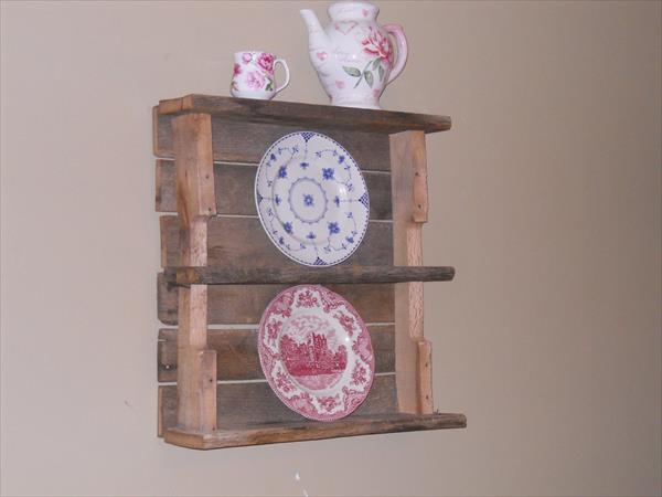 handcrafted pallet kitchen shelf