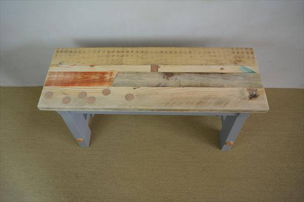 "wooden pallet ""A"" frame bench"