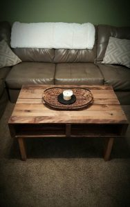 DIY Pallet Antique Coffee Table with Storage