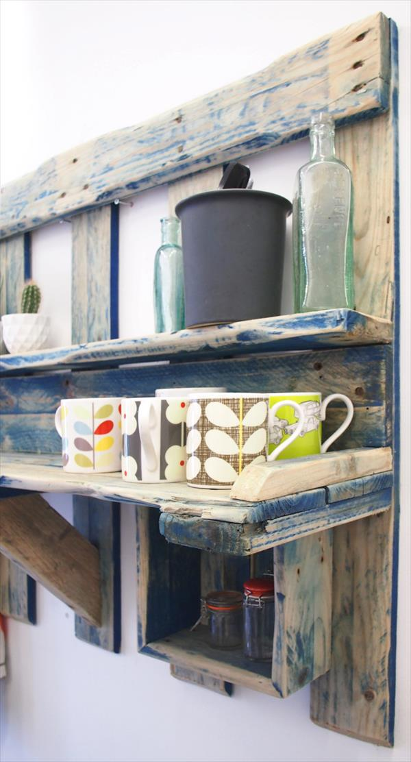 recycled pallet antique kitchen shelving unit