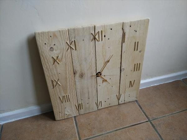 DIY Pallet Wood Wall Clock Pallet Furniture Plans