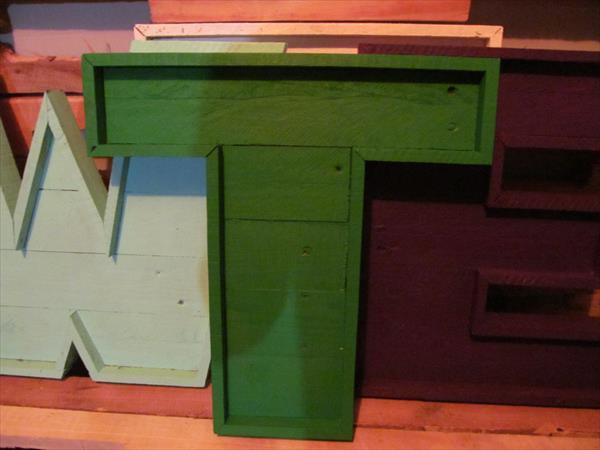 Rebuilt pallet lettered maarquee