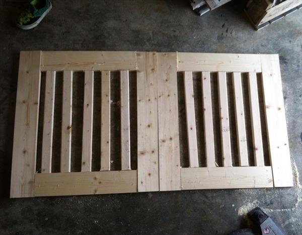 wooden pallet baby gate