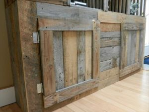reclaimed pallet entertainment center and TV console