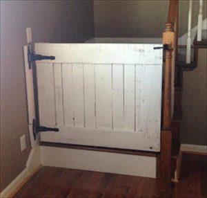 DIY Pallet Blocking Off Baby Gate