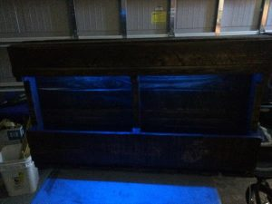wooden pallet glass holder