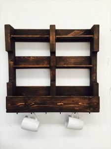 Pallet Kitchen Coffee Cup Holder – Tea Rack
