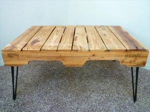 DIY One Coffee Table with 3 Rod Hairpin Legs