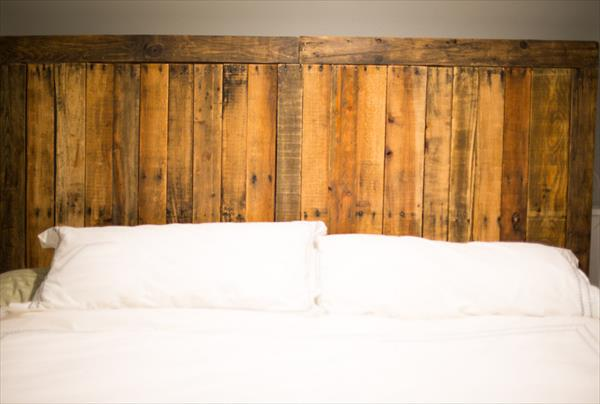 recycled pallet country style headboard
