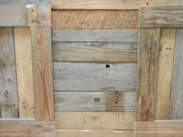 recycled pallet media console table and entertainment center