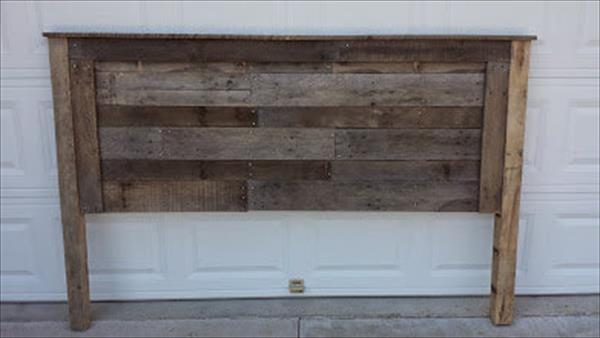 rustic pallet headboard