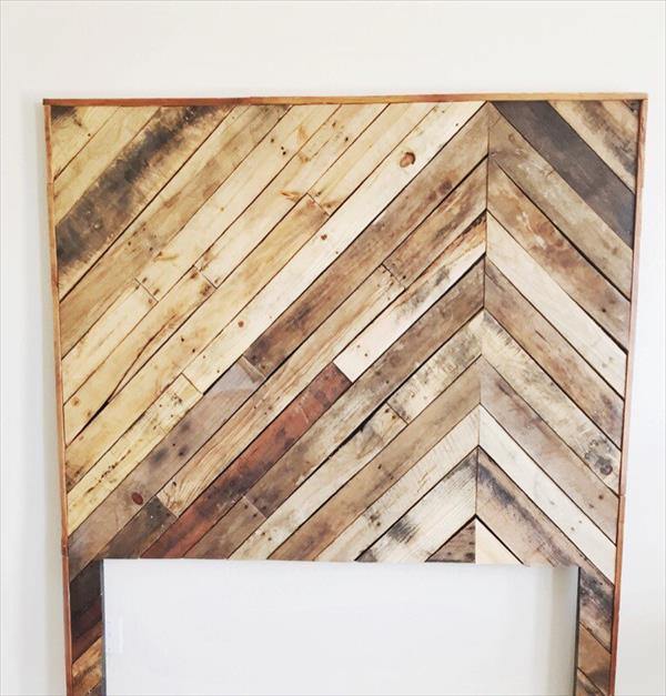 rustic yet modern pallet king size headboard