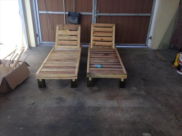 Diy Pallet Chaise Lounge Chairs Pallet Furniture Plans