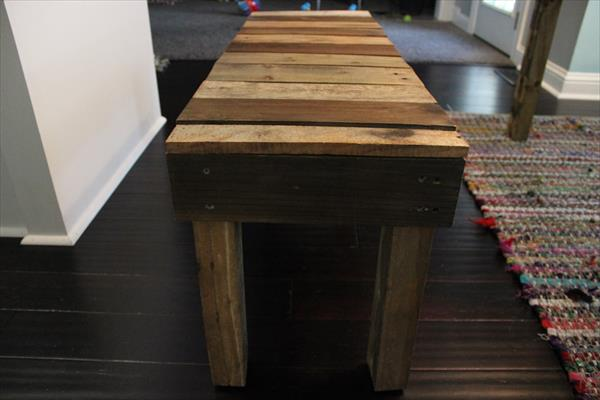 diy pallet wood antique bench