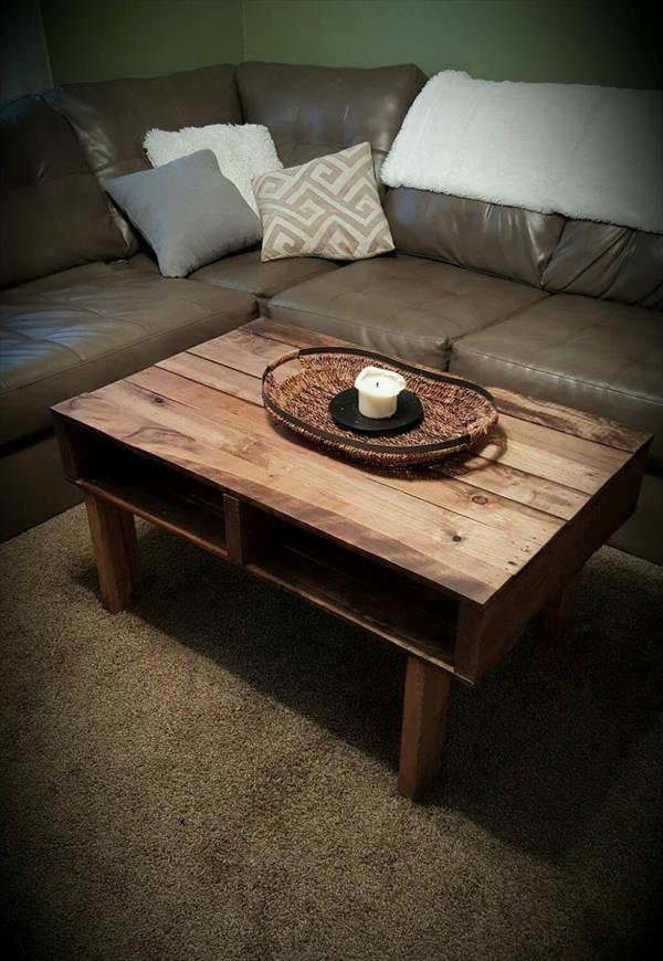 diy pallet antique coffee table