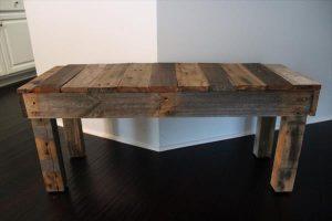 repurposed pallet wooden bench