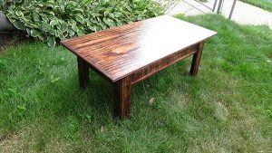 DIY Pallet Wood Rustic Coffee Table