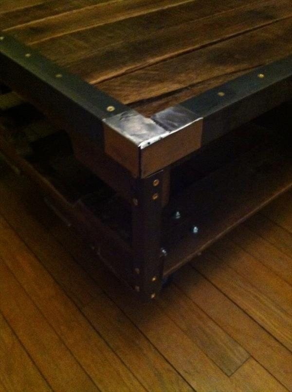 ... inspired pallet metal table diy pallet steel coffee table diy salvaged