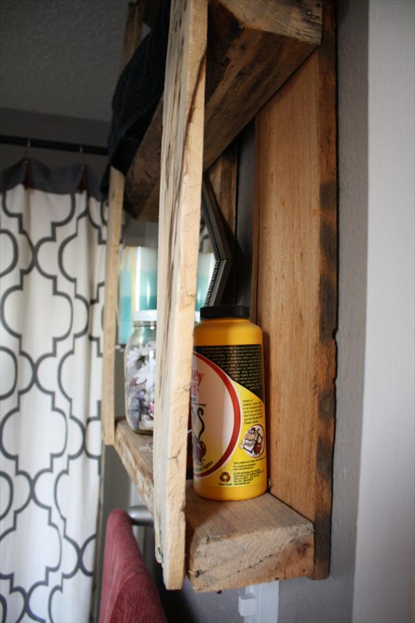 diy pallet wall shelving unit