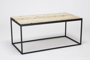 Recycled pallet-steel coffee table