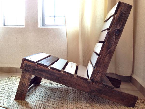 wooden pallet bohemian vintage chair
