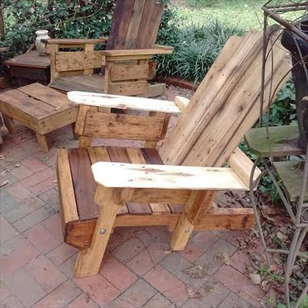 Rustic Wood Pallet Adirondack Chair Pallet Furniture Plans