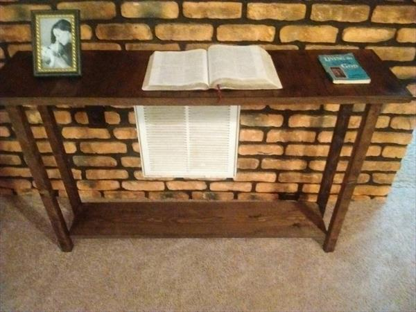 Recycled pallet sofa or console table