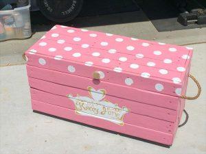 DIY Pallet Princess Toy Box