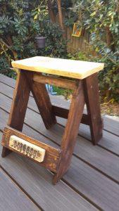 DIY Pallet Multi-Uses Vintage Stool