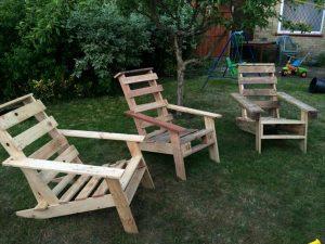 Repurposed pallet Adirondack chairs