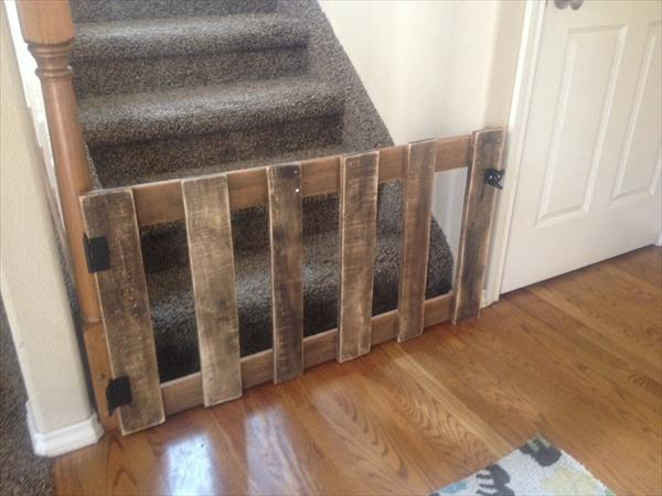 recycled pallet baby gate