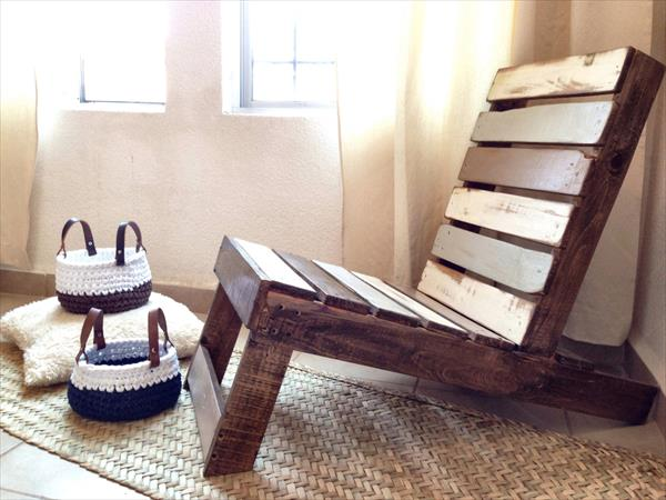 diy pallet bohemian vintage chair