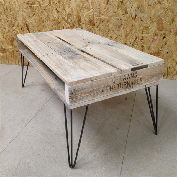 pallet coffee table hairpin legs pallet furniture plans