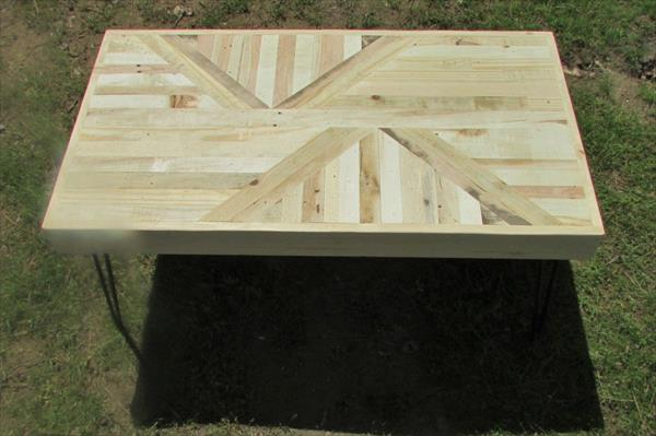 diy pallet and metal accent coffee table