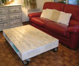 White Pallet Coffee Table pallet antique pallet coffee table with wheels | pallet furniture