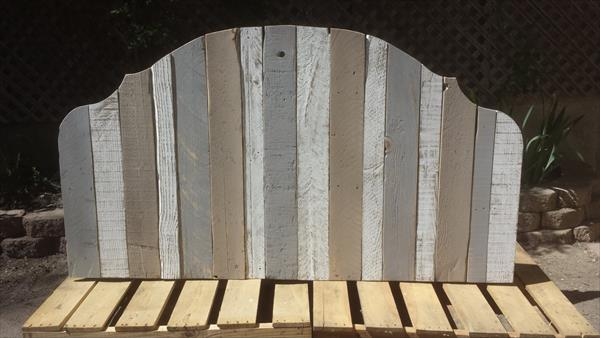 diy pallet king headboard