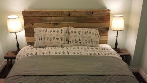 DIY Pallet Queen Headboard