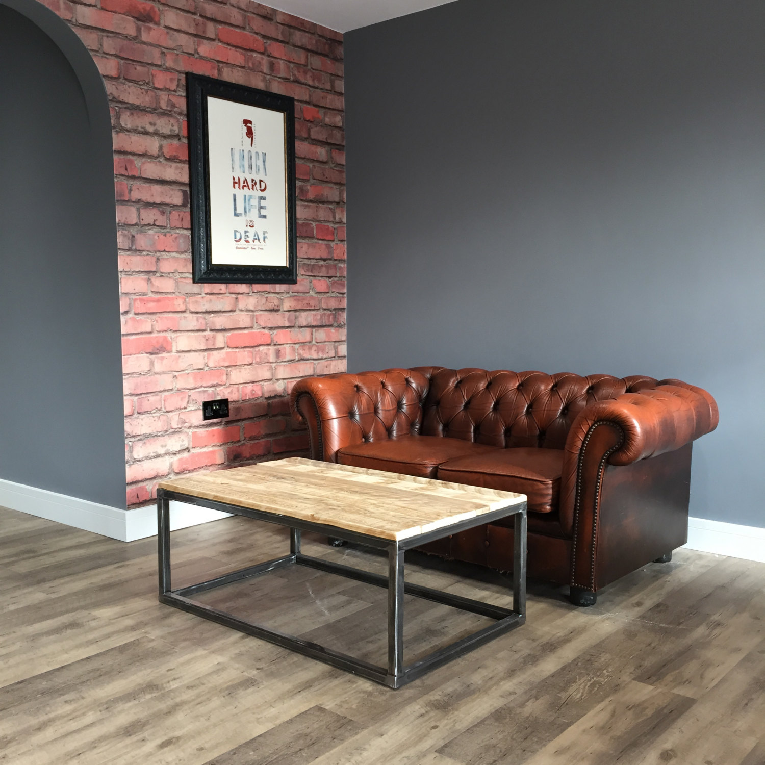 Regained pallet industrial coffee table
