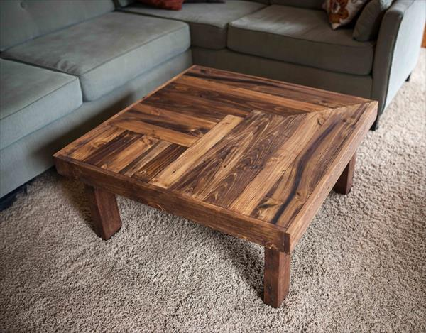 diy pallet coffee table with gloss finish diy pallet square coffee ...