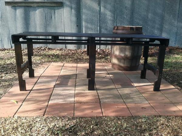 handmade wooden pallet patio table