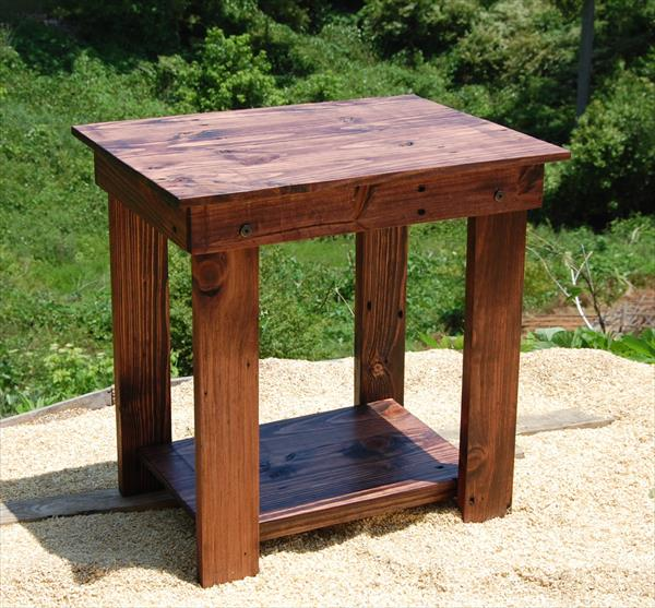 handmade wooden pallet side table and nightstand