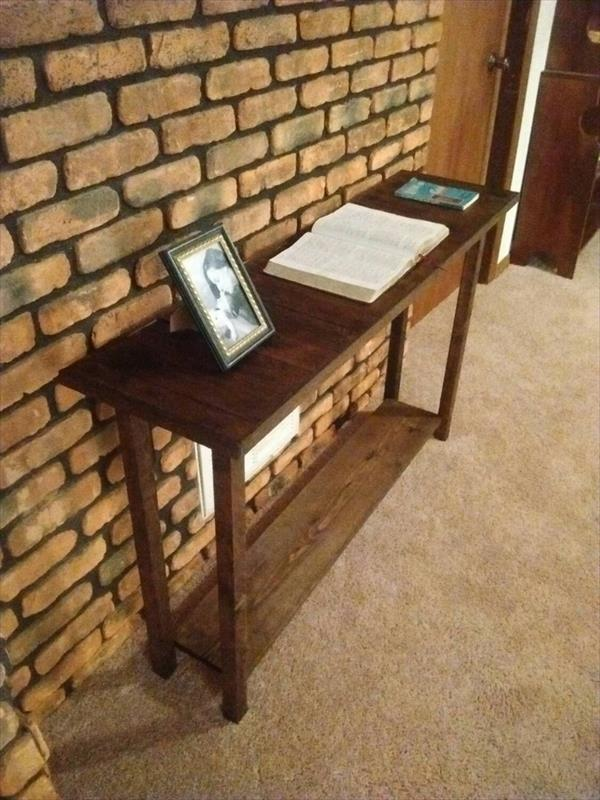 Regained pallet sofa or console table