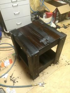 DIY Pallet Black Stained End Table