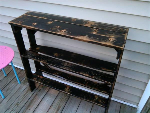 diy pallet black entryway table