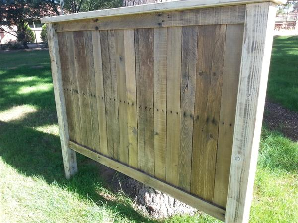 handcrafted pallet distressed headboard design