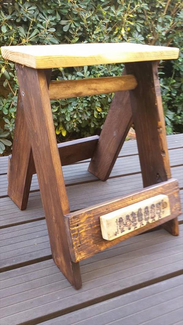 wooden pallet multipurpose stool