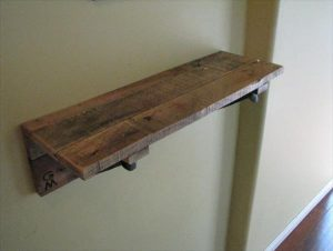 DIY Railroad Spike Shelf
