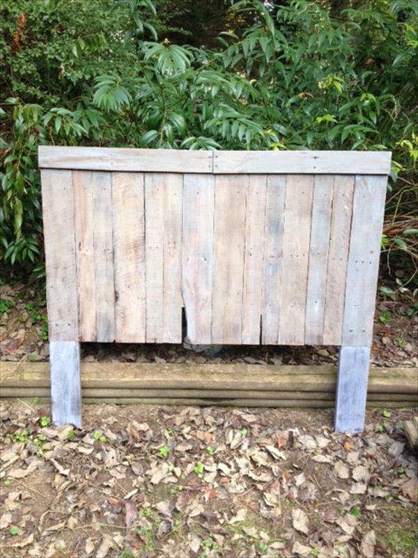 diy pallet wooden headboard