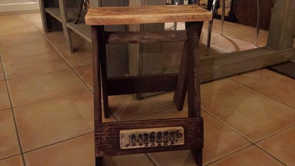 diy pallet vintage inspired stool