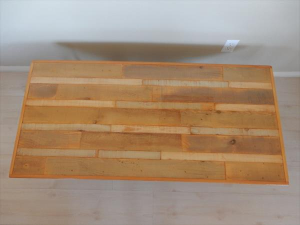 wooden pallet A-frame coffee table